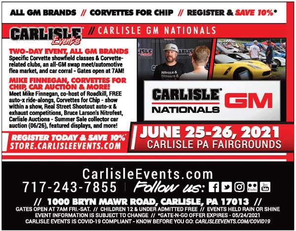 Carlisle Events - GM Nationals 713-243-7855 https://www.carlisleevents.com/