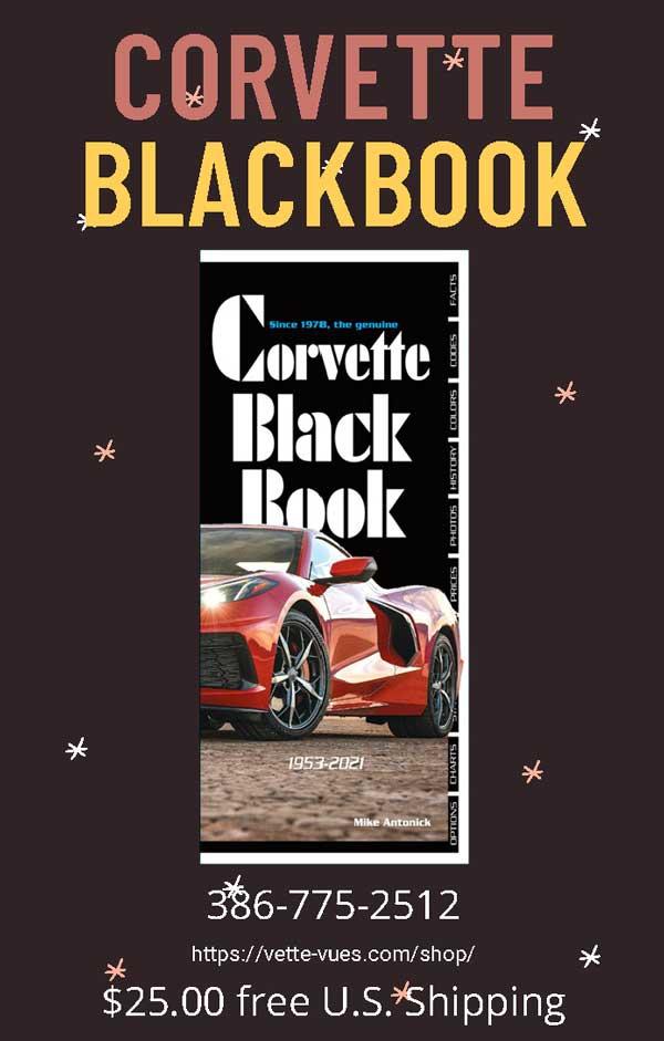 Corvette Black Book 1953-2021 386-775-2512
