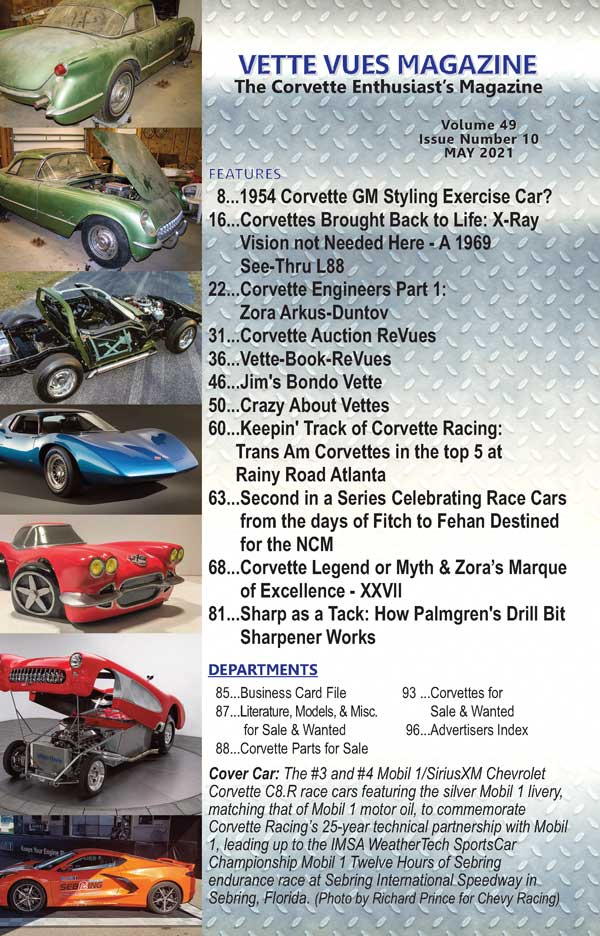 ARTICLES IN MAY 2021 ISSUE OF VETTE VUES MAGAZIINE
