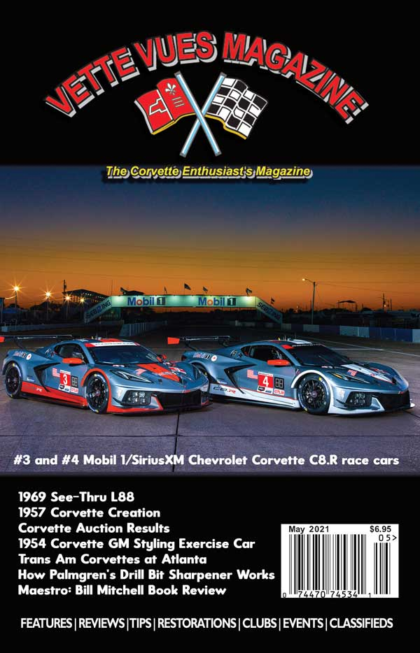 MAY 2021 ISSUE COVER VETTE VUES MAGAZIINE