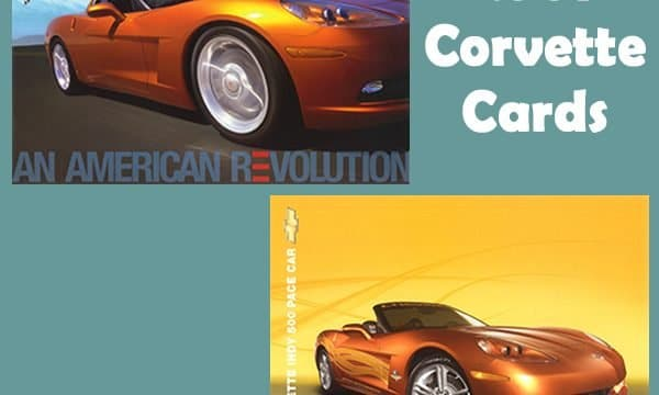 2007 Corvette Literature (Cards) from Chevrolet