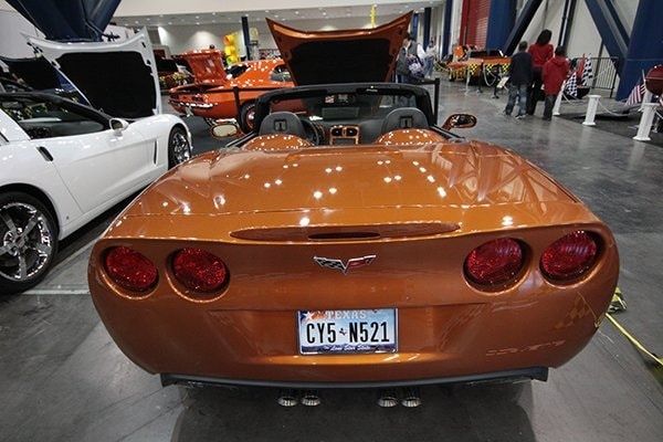 Rear Shot: Gary Chan's 2007 Corvette Indianapolis 500 Pace Car Edition Replica on display at the 2012 Corvette Chevy Expo in Texas.