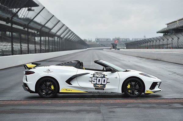 Side view of the 2021 Corvette Stingray Indy 500 Pace Car - Image Via Team Chevy