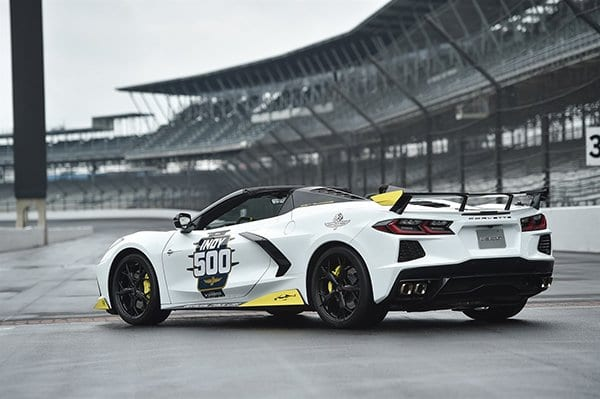 Rear view of the 2021 Corvette Stingray Indy 500 Pace Car - Image Via Team Chevy
