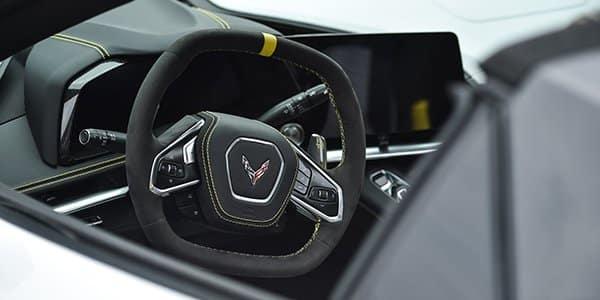 Interior of the 2021 Corvette Stingray Indy 500 Pace Car - Image Via Team Chevy