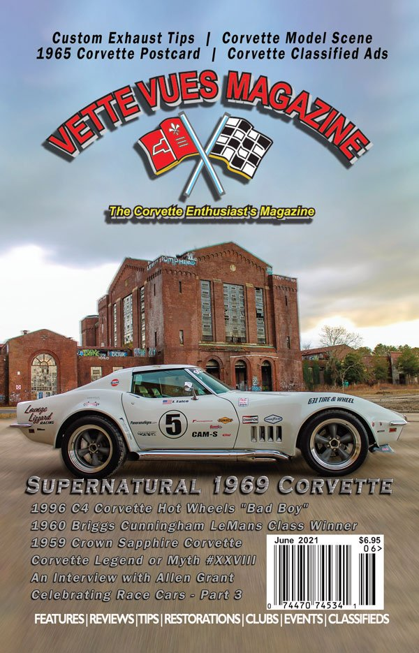 Cover of the June 2021 Vette Vues Magazine, Volume 49, Issue Number 11, #595