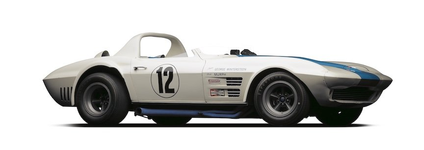The 1963 Grand Sport Corvette, driven by George Wintersteen, and residing at Simeone Foundation Automotive Museum. (Michael Furman photo)