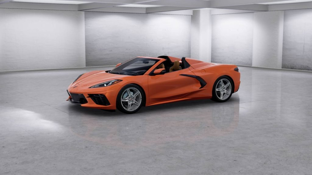 2022 Corvette Stingray Convertible in the new Amplify Orange Tintcoat exterior
