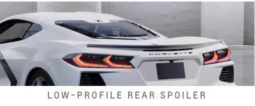 The new 2022 Corvette Low-Profile Rear Spoiler