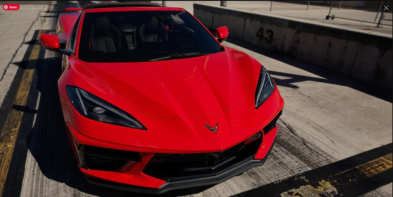 2022 Corvette in Torch Red