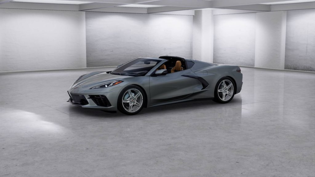 2022 Corvette Stingray Convertible in the new Hypersonic Gray exterior