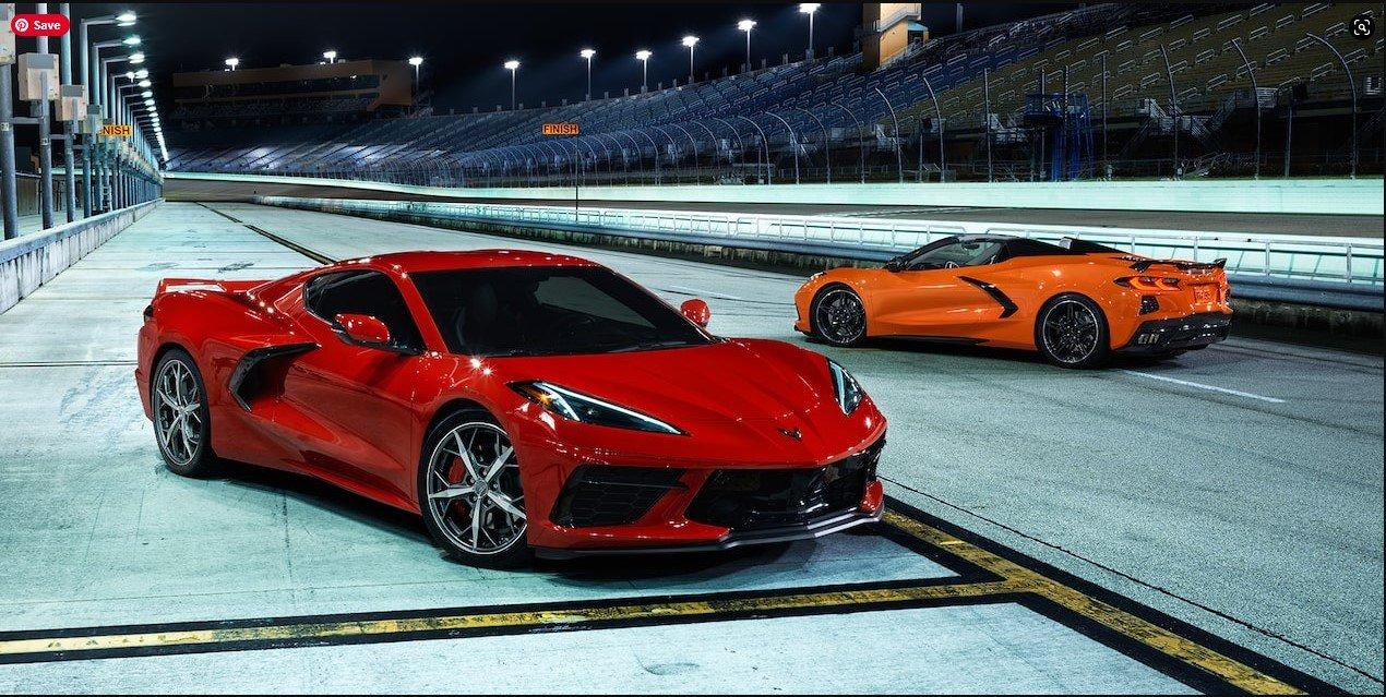 Amplify Orange 2022 Corvette in the background