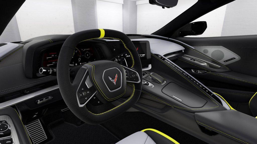 Corvette Stingray 2022 IMSA GTLM Championship Edition Accelerate Yellow Coupe Interior