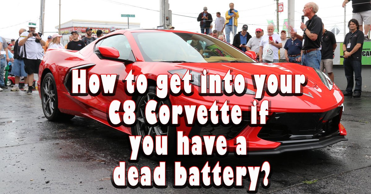 How to get into your C8 Corvette if you have a dead battery