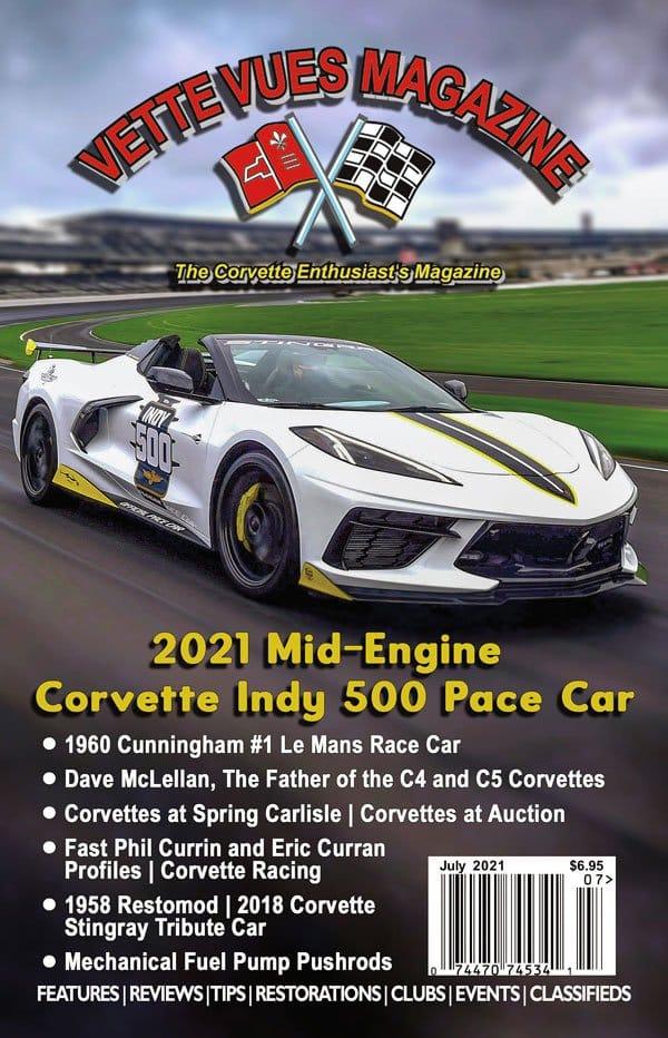 July 2021 Cover Vette Vues Magazine
