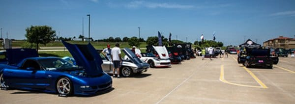 Corvettes on display at the NCCO Toys for Tots Fundraiser