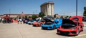 Corvettes on display the the NCCO Toys for Tots Fundraiser