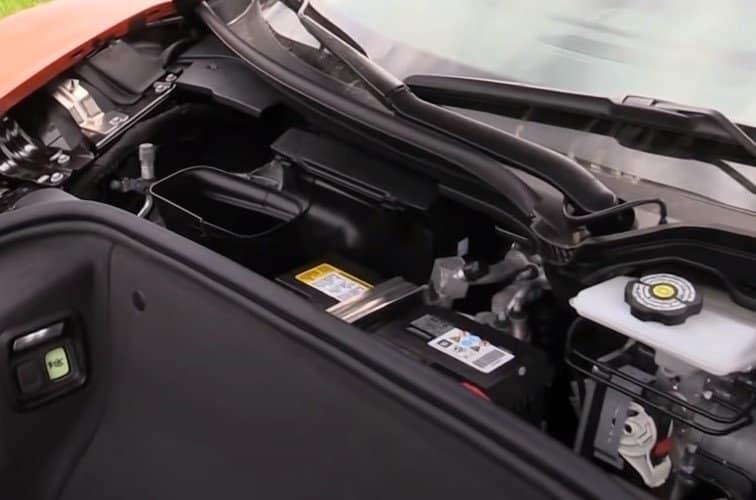 C8 Corvette Front Trunk Battery Compartment