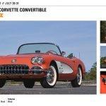 1958 Chevrolet Corvette Convertible Lot S163