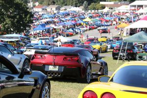 You will see thousands of Corvettes of every year and every color on the Fun Field at Corvettes at Carlisle's Fairgrounds in Carlisle Pennsylvania.