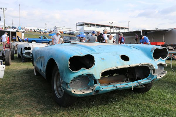 Corvettes at Carlisle has a HUGH Corvette swap meet. No matter what you are looking for, you will probably find it here!