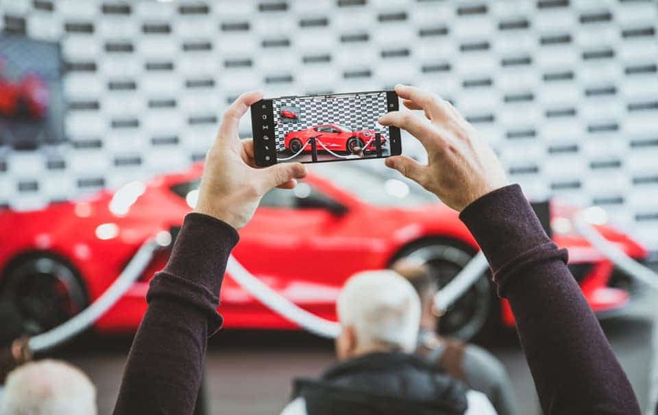 Photos shared on Oliver Gavin Facebook page of the Corvette Stingray Right Hand Drive reveal at the Goodwood Festival of Speed and Michelin 2021.