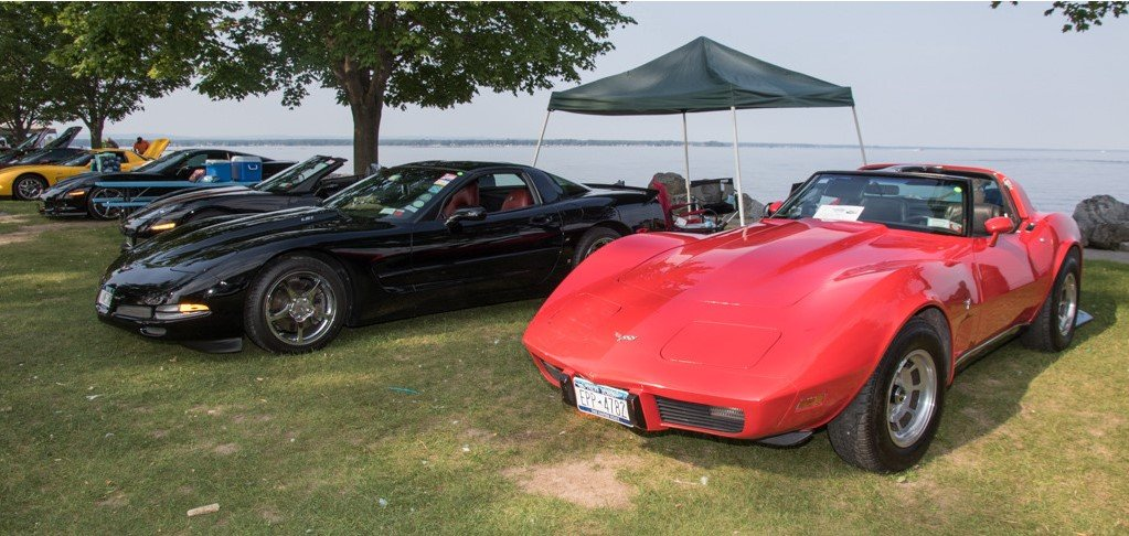 Sylvan Beach is on the shore of Oneida Lake.  A beautiful place to show off your wheels!