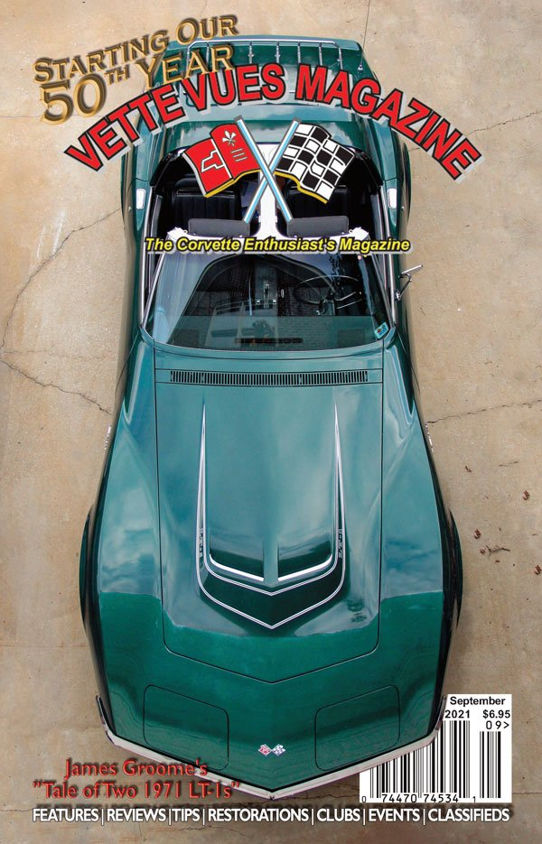 September 2021 Cover Vues Vues Magazine – 1971 Corvette owned by James Groome