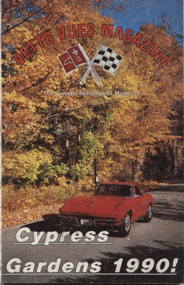 April 1990 Cover of Vette Vues Corvette Magazine