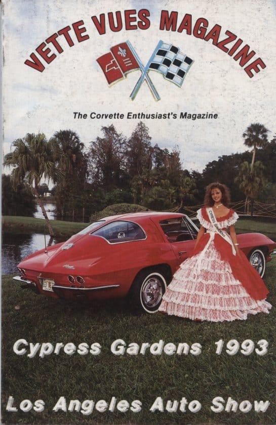 April 1993 Cover of Vette Vues Corvette Magazine