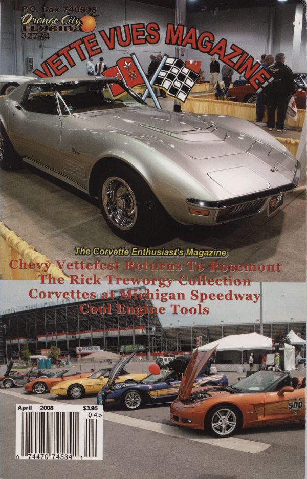 April 2008 Cover of Vette Vues Corvette Magazine