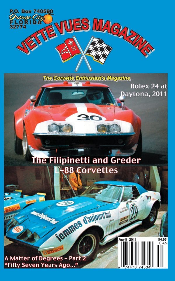 April 2011 Cover Vette Vues Corvette Magazine Back Issue