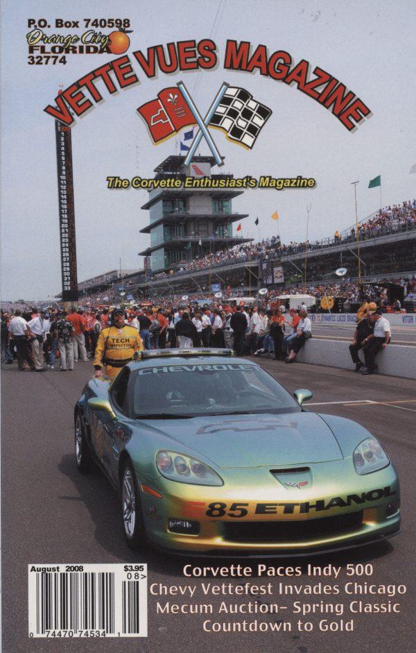 August 2008 Cover of Vette Vues Corvette Magazine