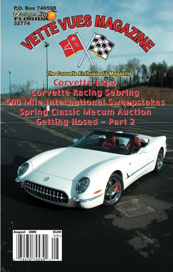 August 2009 Cover of Vette Vues Corvette Magazine