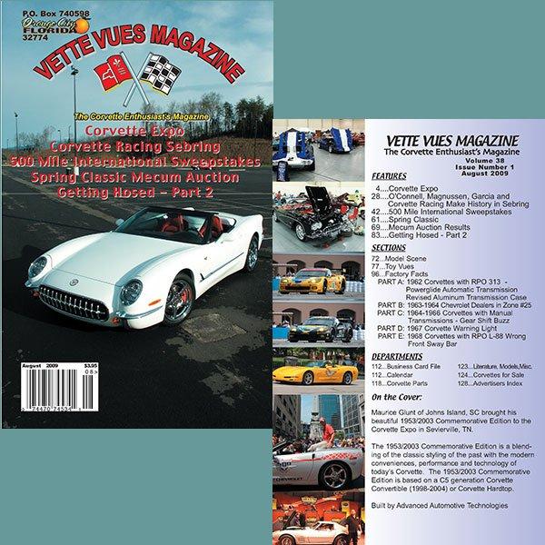 August 2009 Vintage Vette Vues Corvette Magazine Back Issue