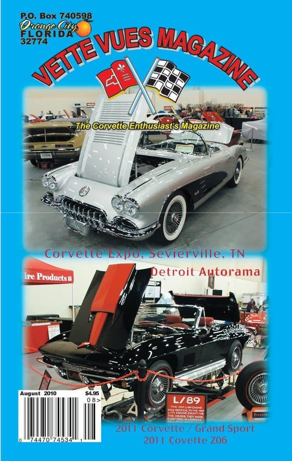 August 2010 Cover Vette Vues Corvette Magazine Back Issue