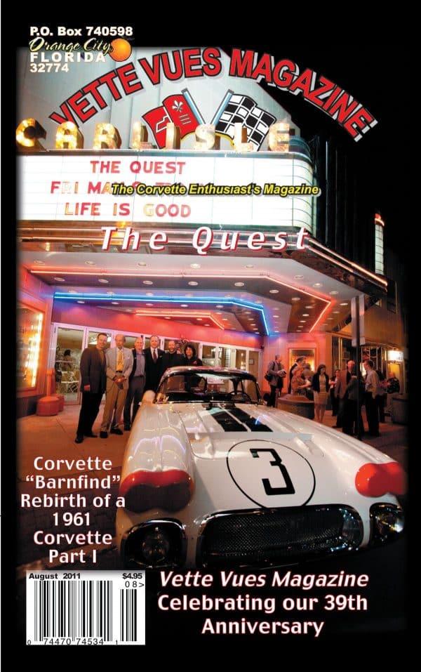 August 2011 Cover Vette Vues Magazine