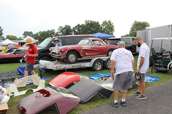 Corvettes at Carlisle is full of things to buy in the Automotive Flea Market.