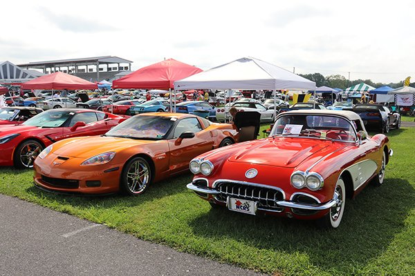 You could see every color and year Corvette on the Fun Field at Corvettes at Carlisle.