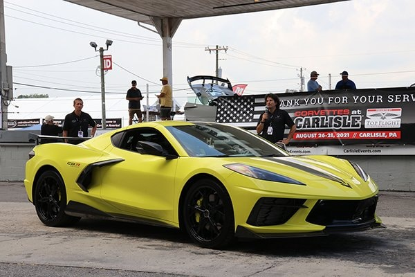 Team Chevrolet was on hand and did serval C8R Corvette walkarounds.