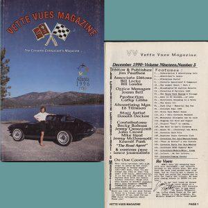 December 1990 Vette Vues Magazine Back Issue
