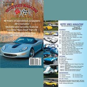 December 2011 Vette Vues Magazine Back Issue for Sale