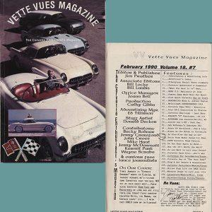 February 1990 Vette Vues Magazine Back Issue