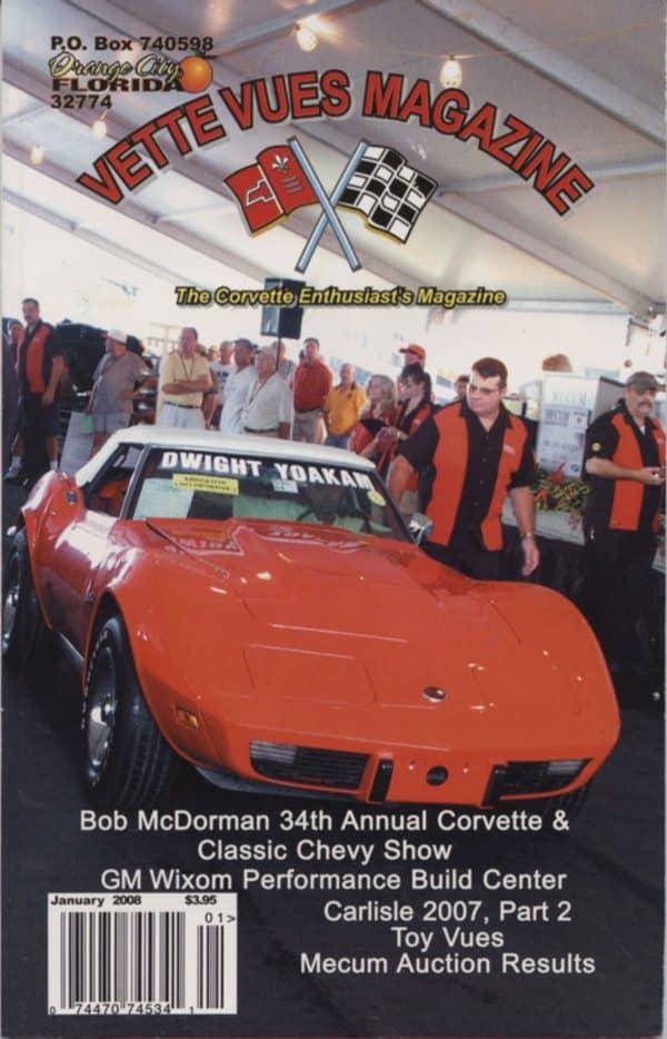 January 2008 Cover of Vette Vues Corvette Magazine