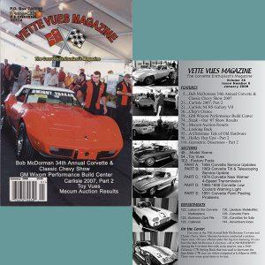 January 2008 Vintage Vette Vues Corvette Magazine Back Issue
