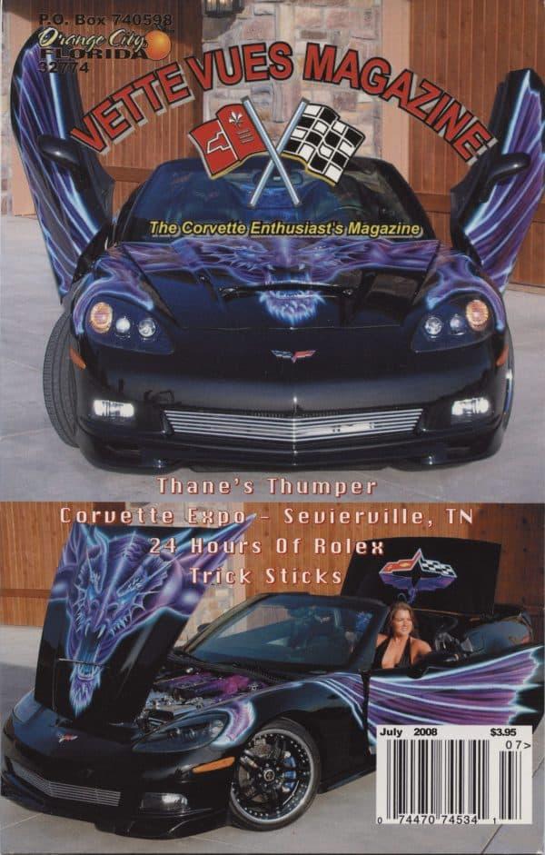 July 2008 Cover of Vette Vues Corvette Magazine