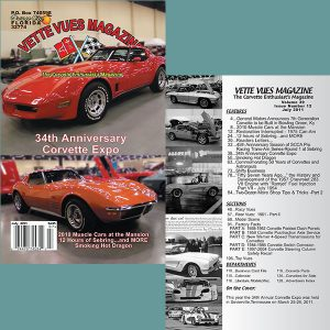 July 2011 Vette Vues Magazine Back Issue for Sale