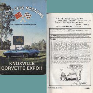 June 1986 Vette Vues Corvette Magazine Back Issue