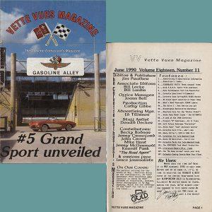 June 1990 Vintage Vette Vues Corvette Magazine Back Issue