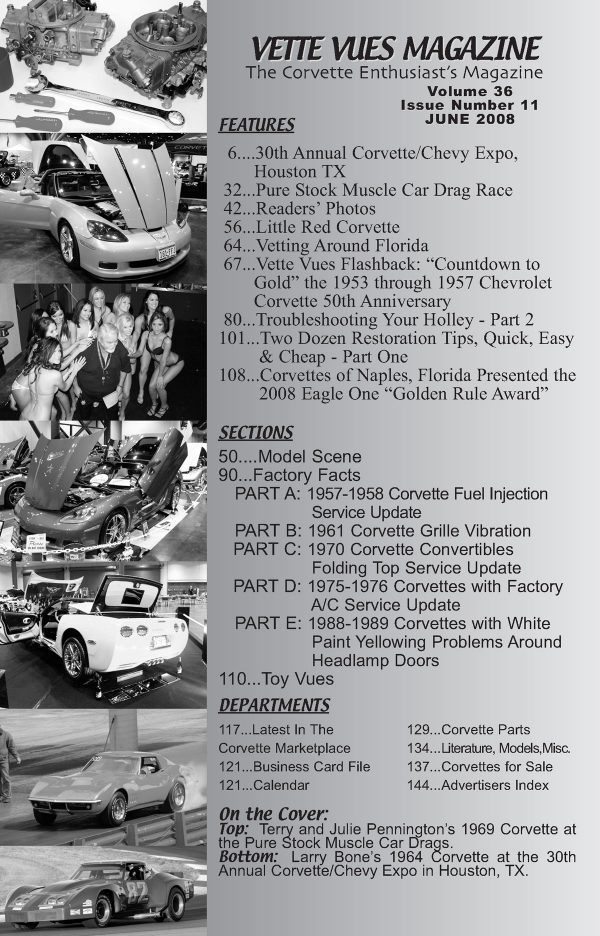 June 2008 Articles in Vette Vues Corvette Magazine